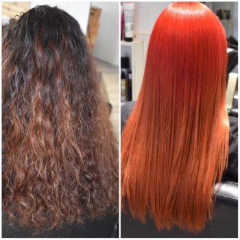 cabello naranja fantasia