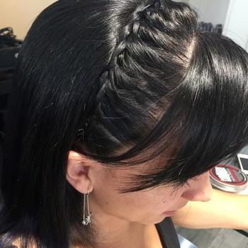 peinado sencillo con trenza